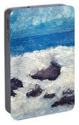 Wave Over Rocks Portable Battery Charger