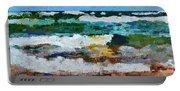 Waves Crash - Painting Version Portable Battery Charger