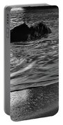 Waves From The Cave In Monochrome Portable Battery Charger