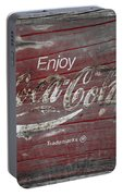 Weathered Coca Cola Sign Portable Battery Charger