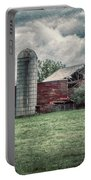 Weathered Worn And Standing Strong Portable Battery Charger by Judy Hall-Folde