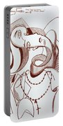 Weeping Woman With Prayer Beads Portable Battery Charger by Anthony Falbo