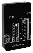Wellington Skyline Travel Poster Portable Battery Charger