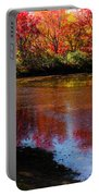When Autumn Flows Portable Battery Charger by Karen Wiles