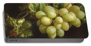 White Grapes Portable Battery Charger