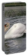 White Swan On Lake Portable Battery Charger