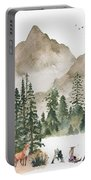 Wild Alaska Travel Poster Portable Battery Charger by Celestial Images