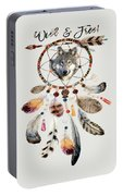 Wild And Free Wolf Spirit Dreamcatcher Portable Battery Charger