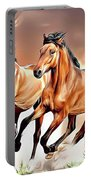 Wild Horses Portable Battery Charger