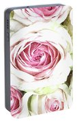 Wild Pink Roses Portable Battery Charger