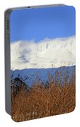 Wind Blows Over The Kenai Mountains Alaska Portable Battery Charger
