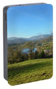 Windermere With Loughrigg Fell And The Langdales From Ambleside Portable Battery Charger