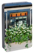 Window Full Of Flowers Portable Battery Charger