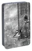 Winter Blessing Chickadee Portable Battery Charger