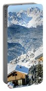 Winter Landscape On The Italian Dolomites Portable Battery Charger