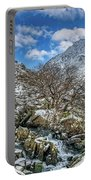 Winter Wonderland Snowdonia Portable Battery Charger by Adrian Evans