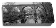 Wissahickon Creek - Reading Viaduct In Black And White Portable Battery Charger