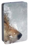 Wolf In The Snowstorm - Painting Portable Battery Charger