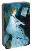 Woman At The Piano Portable Battery Charger