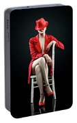 Woman In Red Portable Battery Charger