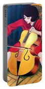 Woman Playing Cello - Bereny Robert Study Portable Battery Charger