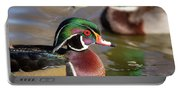 Wood Duck Head Shot Portable Battery Charger