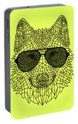 Woolf In Black Glasses Portable Battery Charger
