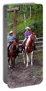 Wyoming Cowgirl Trio Portable Battery Charger