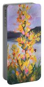Yellow Blaze Portable Battery Charger by Wendy Ray
