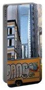 Yellow Graffiti Truck Downtown La Portable Battery Charger