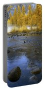 Yosemite River In Yellow Portable Battery Charger
