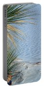 Yucca Plant In Rippled Sand Dunes In White Sands National Monument, New Mexico - Newm500 00113 Portable Battery Charger
