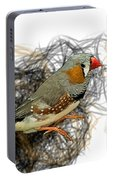 Z Is For Zebra Finch Portable Battery Charger