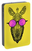 Zebra In Pink Glasses Portable Battery Charger