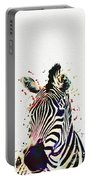 Zebra Watercolor Painting Portable Battery Charger