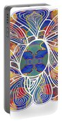 Zen Flower Abstract Meditation Digital Mixed Media Art By Omaste Witkowski Portable Battery Charger by Omaste Witkowski
