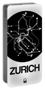 Zurich Black Subway Map Portable Battery Charger