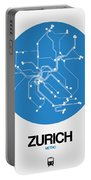 Zurich Blue Subway Map Portable Battery Charger