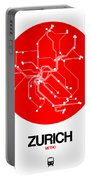 Zurich Red Subway Map Portable Battery Charger