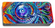 Colorful Comeback Fish Portable Battery Charger