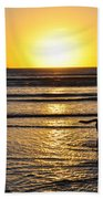 A Mans Best Friend Sunset Beach Towel