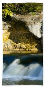 A Quiet Place  Waterfall Beach Towel
