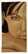 Angelina Jolie 2 Beach Towel