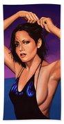 Barbara Carrera Painting Beach Towel