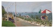 Beach Border Walk In Norfolk Va Beach Towel