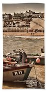 Boats At Broadstairs Beach Towel