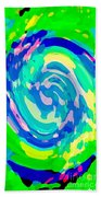 Bold And Colorful Phone Case Artwork Lovely Abstracts Carole Spandau Cbs Art Exclusives 134  Beach Towel by Carole Spandau