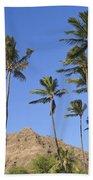 Tip Of Diamond Head Beach Towel