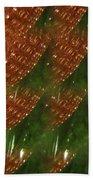 Brilliant Green Abstract 2 Beach Towel