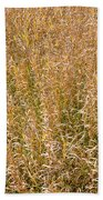 Brown Grass Texture Beach Towel